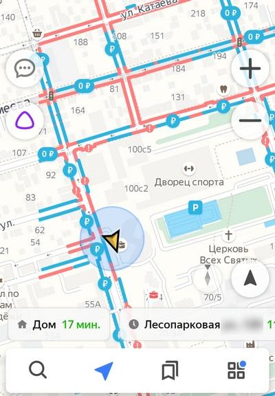 Парковки в Яндекс.Навигаторе