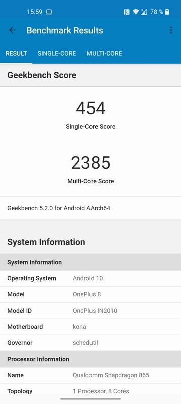 OnePlus 8 в AnTuTu