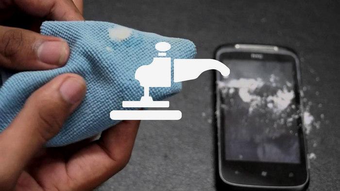 Полировка экрана смартфона