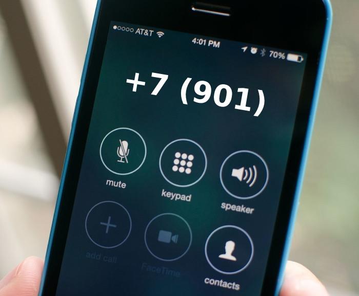 Номера телефонов +7 (901)