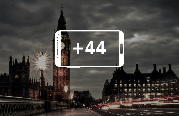 Номера телефонов +44