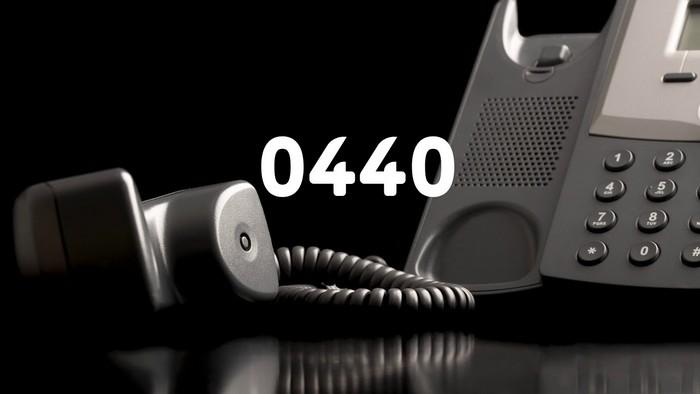 Номер телефона 0440